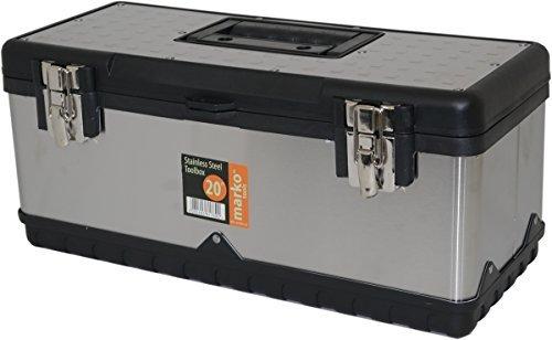 Marko Tools Stainless Steel Tool Box DIY Heavy Duty Garage Storage Metal Tools 20 Toolbox by Marko Tools