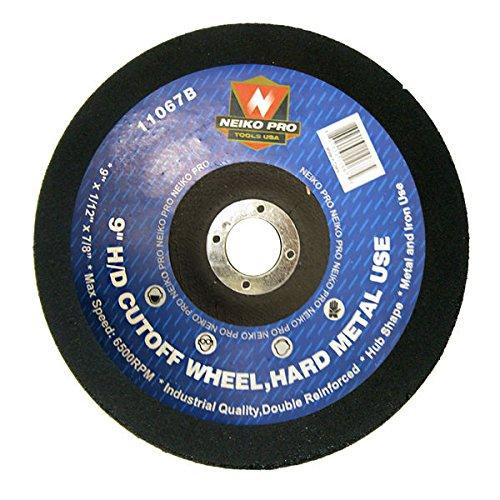 10pc Cutoff Wheels 9 x 112 x 78 inch Disc for Cutting Hard Steel Metal