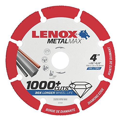 Lenox Tools 1972920 METALMAX Diamond Edge Cutoff Wheel 4 x 58