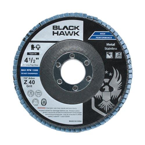 10 Pack 4-12 x 78 Black Hawk Zirconia Grinding Sanding Flap Discs T27 40 Grit