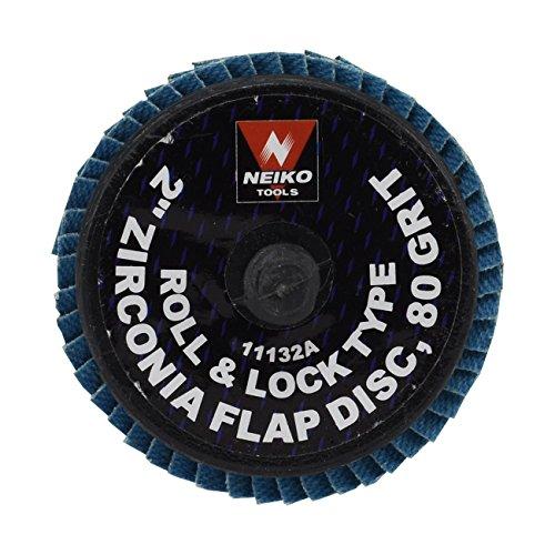 2 Zirconia Flap Discs 80 Grit - Roll Lock 10pc