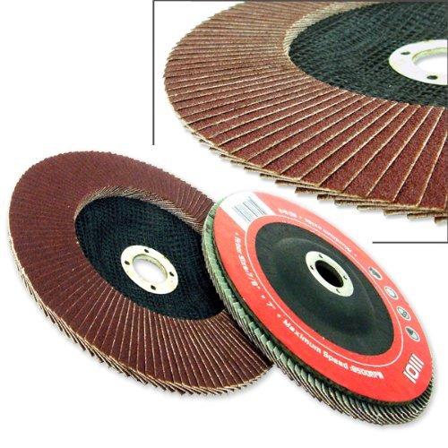 20 Angle Grinder Flap Discs 4-12 Flat 80 Grit 78