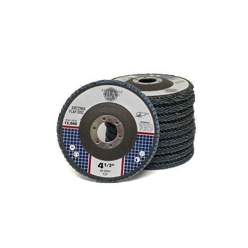 45 x 78 Premium Zirconia Flap Discs Grinding Wheels 40 Grit Type 27 - 10 Pack