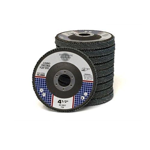 45x78 Jumbo Zirc Flap Disc Grinding Wheel 60 Grit - 50 Pack