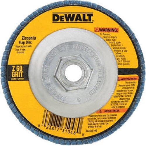 DEWALT Flap Disc Zirconia 4-12-Inch by 58-Inch-11 80-Grit DW8313