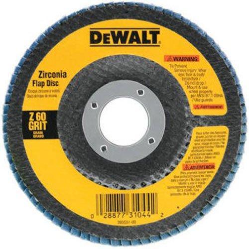 DEWALT Flap Disc Zirconia 4-12-Inch x 78-Inch 80-Grit DW8309