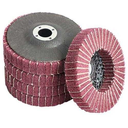 FPPO 5Pcs 45 x 78 Nylon Fiber Flap Disc Polishing Grinding WheelScouring pad Buffing Wheel for Angle Grinder Polishing Tools Grit 240