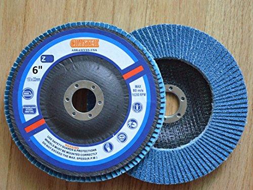 Premium FLAP DISCS 6 x 78 Zirconia 40 grit Grinding Wheel grinder tool - 5pcs Pack
