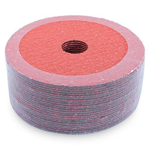 Black Hawk Ceramic Resin Fiber Sanding Grinding Discs 60 Grit 45-Inch x 78-Inch Arbor Hole Pack of 25