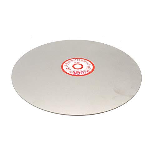 Rannb 3000 Grit 8-inch Outside Dia Diamond Coated Flat Lap Wheel Grinding Sanding Polishing Disc for Jewelry Glass Rock