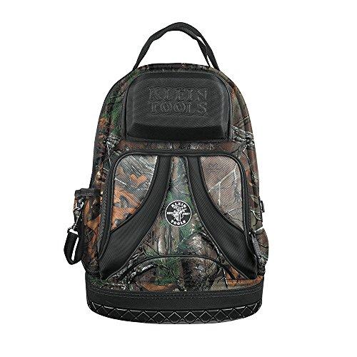 Backpack Electrician Tool Bag Camo Tradesman Pro Organizer 39 Pockets Molded Base Klein Tools 55421BP14CAMO