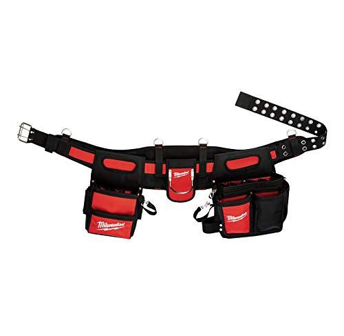 Milwaukee 48-22-8110 30-53 Electricians Tool Belt RedBlack Ballistic Nylon