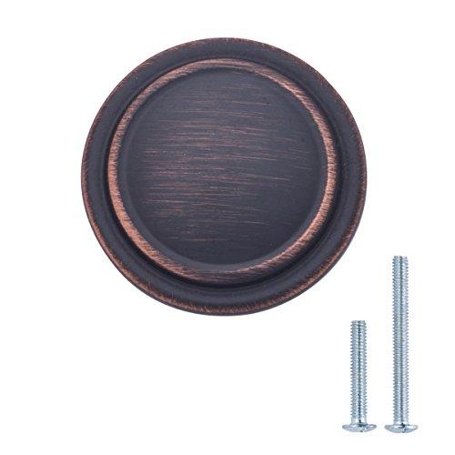 AmazonBasics AB700-OR-10 Cabinet Knob 125 Diameter Oil Rubbed Bronze