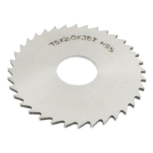 uxcell Slitting Slotting Saw Mill Cutter Disc HSS 75mm x 2mm x 22mm 36 Teeth