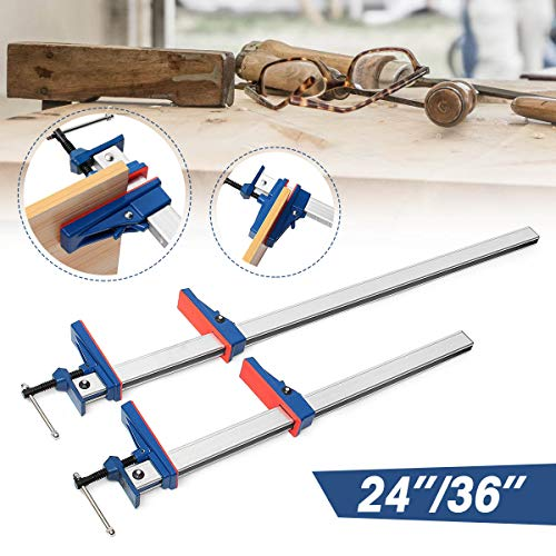 Clamps - 24 36 Inch 1 2pcs F Clamp Bar Heavy Holder Grip Release Parallel Wood Hand Diy T Clamps - Router Wood Woodwork Hose Clip Plastic Pipe Metal Wooden Russian Clamp Woodworking Fast