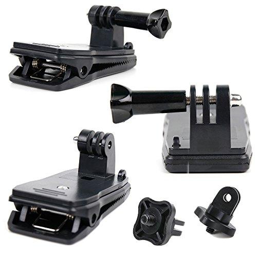 DURAGADGET Quick-Clip Jaw Clamp Mount wScrew Thread Adapter - Compatible with Kodak PixPro SP360 Kodak Pixpro SP1