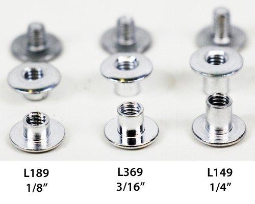 L189 - 18 Aluminum Chicago Screw - Screw Post 10 Pack