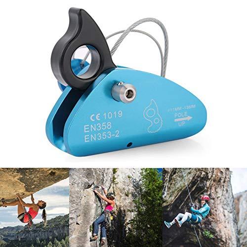 Boquite Carabiner Ascender Self-Braking Stop Climbing Carabiner Rope Clamp Grab Ring Climb Accessories