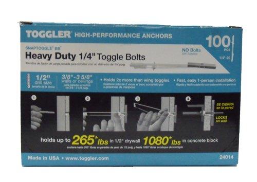 24014 BB TOGGLER 14-20 SNAPTOGGLEÂ toggle bolt Grip Range 38 - 3 58 100 Box No Bolts