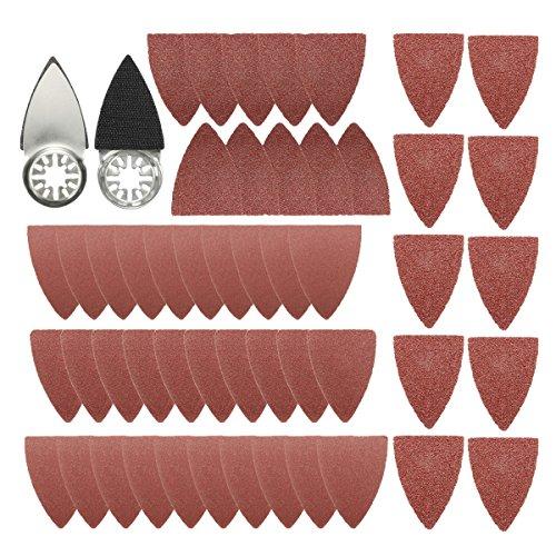 Jeteven 51pcs Finger Sanding Kit Oscillating Sanding Pad Combo Saw Sanding blade Sets Sandpaper For Dremel Fein Multimaster Bosch 60-240 Assorted Grits