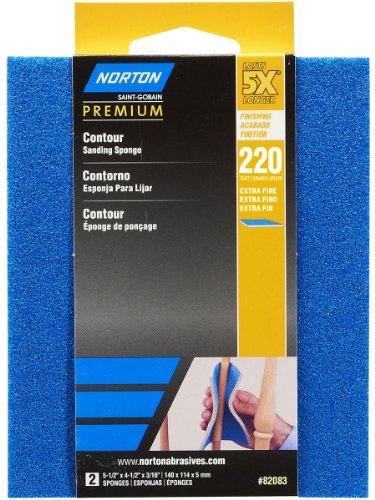 Norton 82083 5X 220 Grit Contour Sanding Pads
