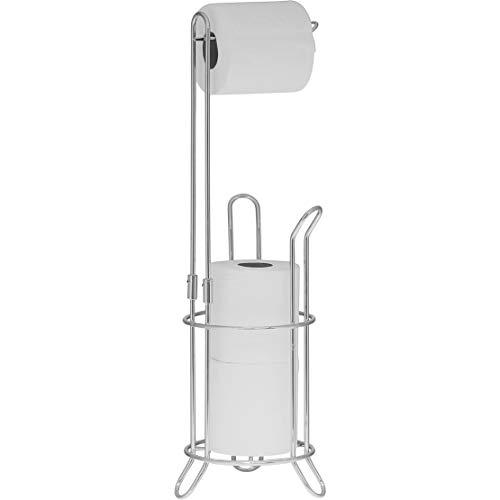 Simple Houseware Bathroom Toilet Tissue Paper Roll Storage Holder Stand Chrome Finish