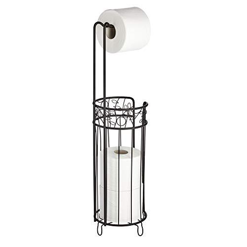 iDesign Twigz Toilet Paper Stand Toilet Paper Roll Bathroom Storage - Matte Black