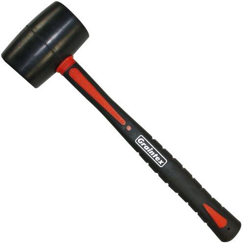 Graintex RM1538 8 Oz Rubber Mallet with Fiberglass Handle