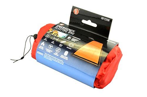 SE EB122OR Emergency Sleeping Bag with Drawstring Carrying Bag Orange