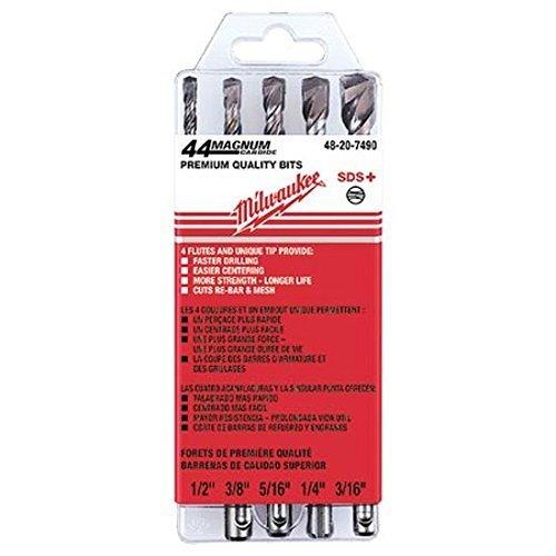 Milwaukee 48-20-7490 5 Pc SDS Hammer Drill Bit Set