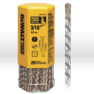 DeWalt DW5403B25 DeWalt 316 x 4-12 x 6-12 Rock Carbide SDS Hammer Bit Bulk 25
