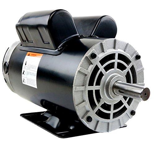 5 HP 3450 RPM 56 Frame 230V 22Amp 78 Shaft Single Phase NEMA Air Compressor Motor - EM-05