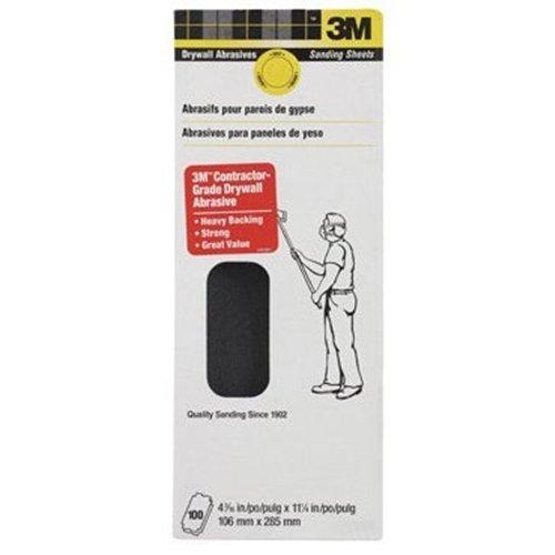 3M 10207-100 80D Grit Drywall Paper Sanding Sheet 4-316 x 11-14-Inch 100-Piece