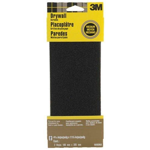 3M 9090NA Drywall Sanding Screen 4375 in x 1125 in 2-Sheet Medium-Grit