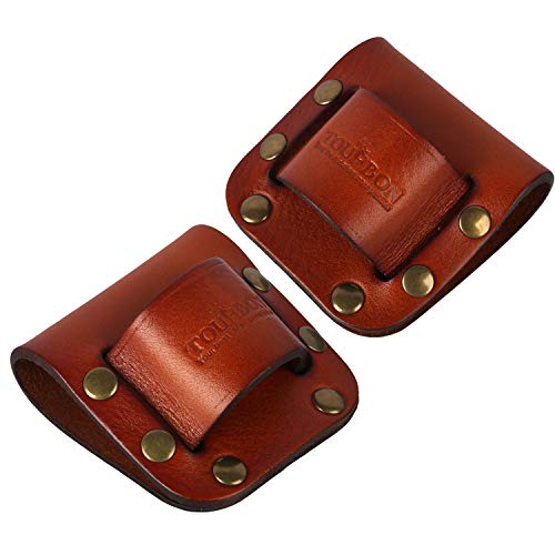 TOURBON Leather Hammer Loop Axe Holder Tool Belt Pack of 2 Pieces
