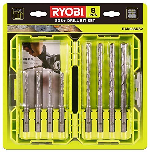 Ryobi RAK08SDS2 SDS Masonry Bit Set 8 Piece