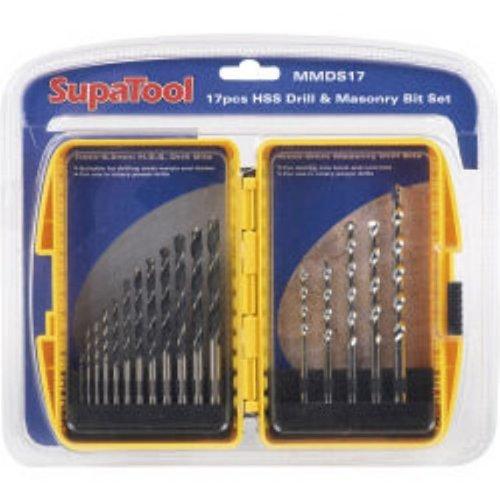 SupaTool HSS Drill Masonry Bit Set One Size Silver