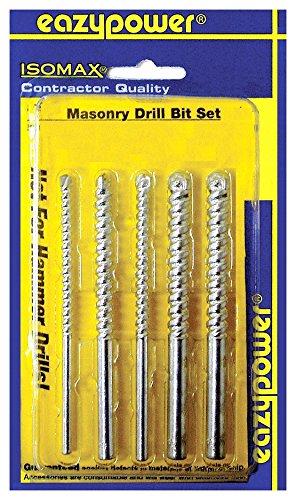 Eazypower 87966 532 316 14 516 38 x 4 Rotary Masonry Drill Bits 5 Pack