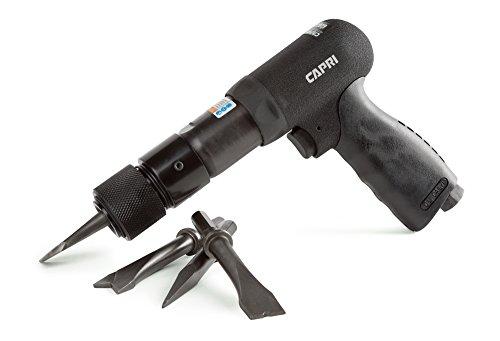 Capri Tools 32070 Air Hammer Hex Shank  4 Chisels