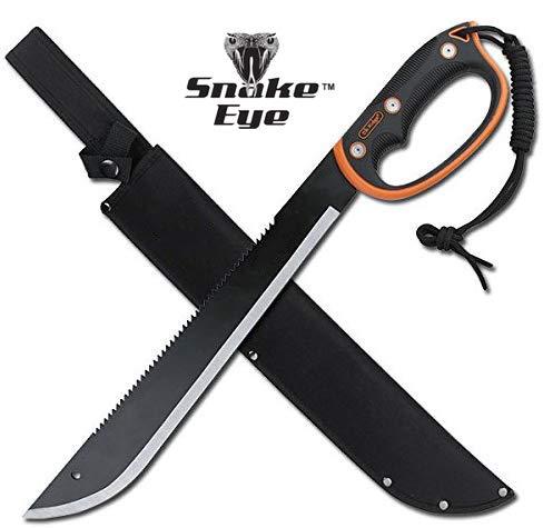 Snake Eye Tactical Full Tang Two Tone Handle Fixed Blade Machete wSheath Outdoors Hunting Camping Fishing 279S