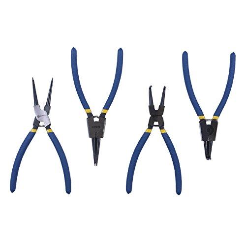 RUWOO Z24004 4-Piece Pneumatic Tool 9 InternalExternal Cr-V Snap Ring Pliers 9 Inch