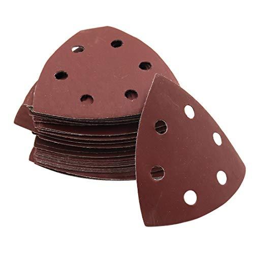 Sydien 50Pcs 1000 Grits Triangle Mouse Detail Sander Sandpaper Sanding Pads for 90mm Sanding Machine