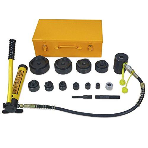 Eminentshop 15 Ton Driver Hydraulic Tool Kit w 10 Dies 12-4 Knockout Punch Set