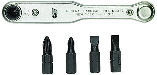 General Tools 8075 Five-Piece Ratchet Screwdriver Set