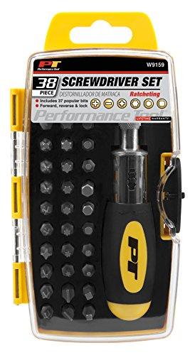 Performance Tool W9159 Ratchet Screwdriver Set 38 pc