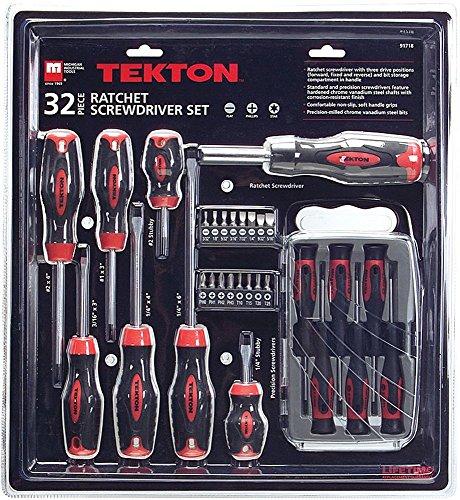 TEKTON 32-pc Ratchet Screwdriver Set - 91718