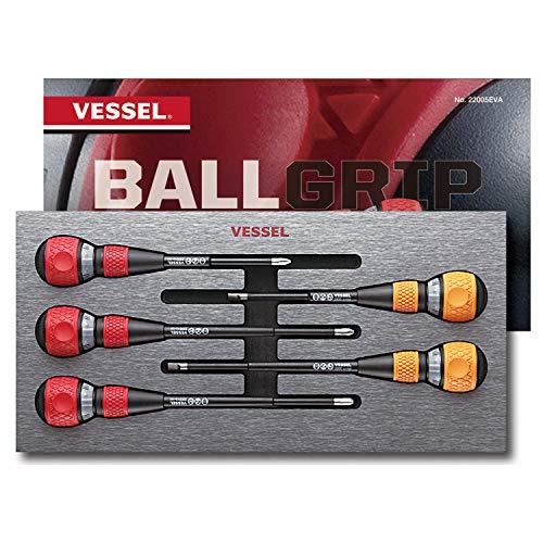 VESSEL BALL RATCHET Screwdriver Set 5pcs No22005EVA