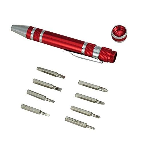 New Portable 8 in 1 Mini Screwdriver Pen Set
