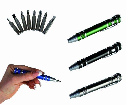 Novelty 8 in 1 Screwdriver Pen Tool Set -A DIY Fans Best Friend- Ideal GiftStocking Filler by WW Global