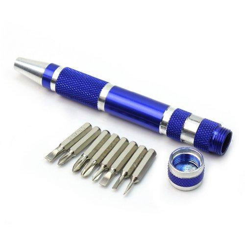 RefaxiÂPrecision Mini 8 in 1 Slotted Phillips Bits Screwdriver Pen Set Repair Tools